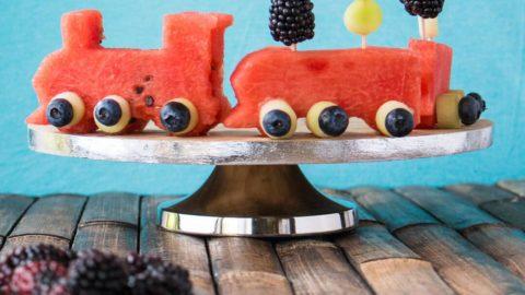 Watermelon Fruit Birthday Cake