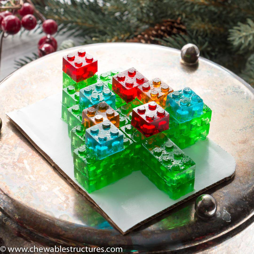 Best Food Gifts: Gummy LEGO Candy Christmas Tree - Chewable Structures