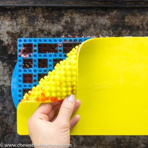 To make LEGO Candy, I'm using The Modern Gummy's Stacking Building Block Candy Mold.