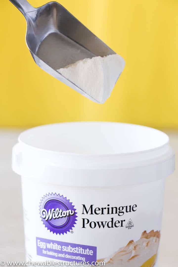 Wilton Meringue powder used in a sugar cookie icing recipe.