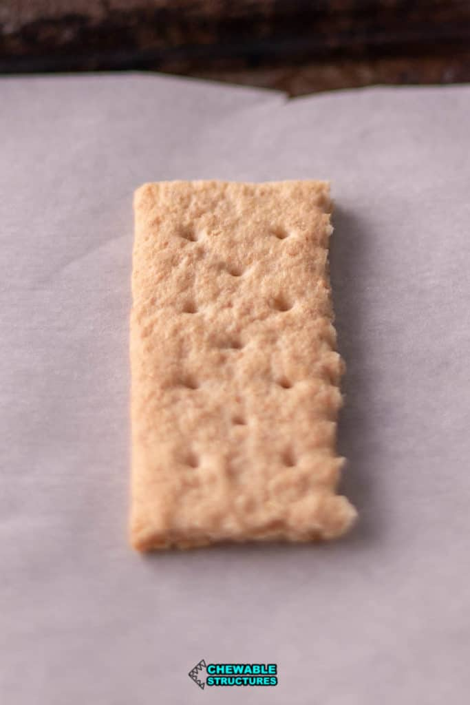 graham cracker on parchment paper